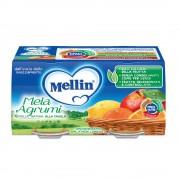 Mellin Omogeneizzato di frutta - Mela Arancia - Confezione da 200 g ℮ (2 vasetti x 100 g)