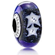 Charm Pandora Plata Murano Cielo nocturno con estrellas 791662CZ