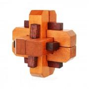 Interconectado de madera del juguete educativo - color de madera + marron