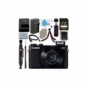 Canon PowerShot G9 X Digital Camera (Black) 0511C001 + NB-13L Lithium Ion Battery + External Rapid Charger + Sony 128GB SDXC Card + Memory Card Wallet + Card Reader + Micro HDMI Cable + Tripod Bundle
