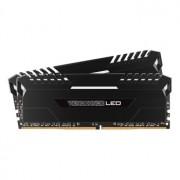 Memorie Corsair Vengeance LED 32GB (2x16GB) DDR4, 2666MHz, 1.2V, CL16, Dual Channel Kit, White LED, CMU32GX4M2A2666C16