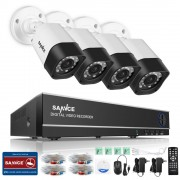 SANNCE 8CH CCTV System 4 in 1 DVR 4PCS 720P IR Weatherproof Outdoor Camera Home Security System Surveillance Kits