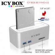 ICY BOX IB-111HCR-U3 Hard Disk Docking for SATA w/ USB 3.0 Card Reader