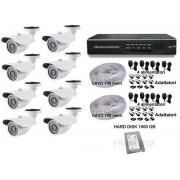 Kit videosorveglianza Telecamere AHD 1,3mpx 1500TVL DVR 8 canali HDD 1000Gb 3,6mm