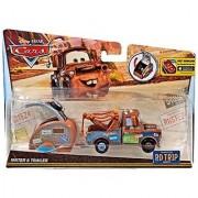 Disney/Pixar Cars Carburetor County Road Trip Mater Die-Cast Vehicle with Trailer