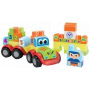 Trenuleţ de jucărie cu vagon Abrick Écoiffier jucărie de construit cu imprimare IML din 42 bucăţi de la vârsta de 12 luni 32*11*12 cm 7778