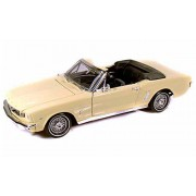 1964 1/2 Ford Mustang, Beige Motormax 73145 1/18 Scale Diecast Model Toy Car