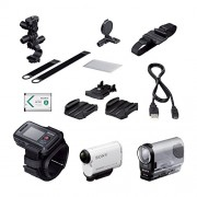 Sony HDR-AS200VB Action Camera with Live View Remote Wrist Strap and Bike Kit (with Roll Bar and Helmet Mount)