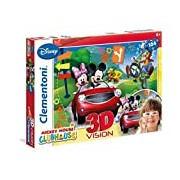 Clementoni Mickey Mouse Clubhouse 20605. 6-3D Jigsaw Puzzle 104 Pieces