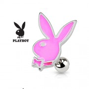 Helix piercing PLAYBOY bunny roze