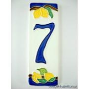 Numero civico ceramica con limoni nl7