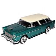 Chevrolet Chevy BelAir - Bel Air Nomad 1955 verde Oldtimer 1/24 Motor Max Modelo Modelo de coche Auto