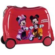 Geanta de Gradinita Abs cu 4 Roti 46 cm Mickey si Minnie