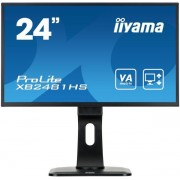 "Monitor VA LED iiyama 23.6"" ProLite XB2481HS-B1, Full HD (1920 x 1080), HDMI, DVI-D, VGA, 6ms, Boxe (Negru) + Set curatare Serioux SRXA-CLN150CL, pentru ecrane LCD, 150 ml + Cartela SIM Orange PrePay, 5 euro credit, 8 GB internet 4G"