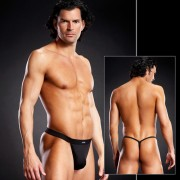 Blue Line Performance Microfiber Thong Underwear Black BLM025