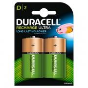 Pile Ricaricabili Duracell Accu - torcia - D - 1,2 V - HR20B2 (conf.2) - 284126 - Duracell