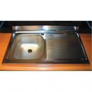 CHIUVETA INOX PE MASCA ZAN 711 (INCLUDE VENTIL SI PREAPLIN) L.80xA.50cm STANGA