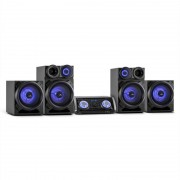 Malone Mega Party Sound Sistema de áudio Bluetooth 720W DVD HDMI AV USB FM AUX