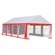 vidaXL Tenda para festa 8 x 4 vermelho