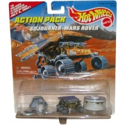 JPL SOJOURNER MARS ROVER Hot Wheels Action Pack with The Real Rover is Schuduled to Land On Mars July 4, 1997! Limited Edition 1:64 Scale Die Cast Play Set by Hot Wheels