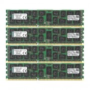 Kingston KVR16R11D4K4/64I Memoria RAM da 64 GB, 1600 MHz, DDR3, ECC Reg CL11 DIMM Kit (4x16 GB), 240-pin, Certificata Intel