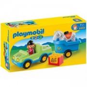 Комплект Плеймобил 6958 - Кола с ремарке за кон - Playmobil, 291234