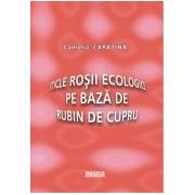 Sticle rosii ecologice pe baza de rubin de cupru.