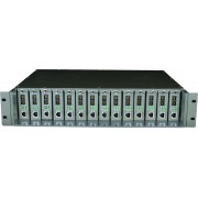 Tp-Link Carcasa 14-sloturi media convertor fara management, rack 19-inch, suport sursa de alimentare redundanta, o sursa AC inclusa. TL-MC1400