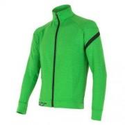 Sensor Męska bluza Sensor Merino Upper rozpinana zielony 14200012