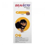 Bravecto for Toy Dogs 4.4 to 9.9 lbs (Yellow) 1 CHEWS
