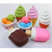Iwako japonés Borrador / Ice Cream 7Pcs.