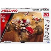 Meccano 6026306 - Desert Adventure Confezione per Costruire 20 Differenti Veicoli, a Tema Deserto, Pezzi in Metallo