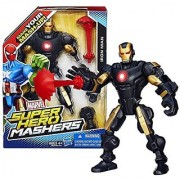 Hasbro Year 2013 Marvel Super Hero Mashers Series 6 Inch Tall Action Figure - IRON MAN with Detachable Hands and Legs Pl