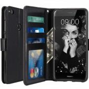 Housse Huawei P8 Lite 2017, Housse Coque Etui De Luxe Portefeuille Porte Carte Et Billet Pour Huawei P8 Lite 2017 (Housse Luxe Noir)