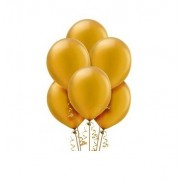 Tiger 50018 Metallic Plain Large Balloon Golden (Pack of 50)