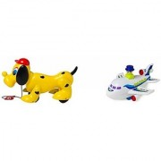 Lovely Lovely Pack of 2 Snoopy Dog and Push go Jet (Multicolor)