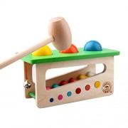 New Children Baby Wood Sound Knock Ball Percussion Punch and Drop Instruments Pound Pounding and Roll Bench Tower