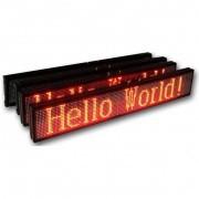 Динамичен LED дисплей за реклама 28x100cm/32x128 пиксела - червени диоди