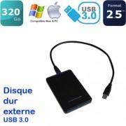 western digital, hitachi ou seagate Mini disque dur externe 320Go USB auto-alimenté, léger, portable, PC & Mac USB 3.0