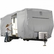 Classic Accessories OverDrive PermaPro Heavy-Duty RV Cover - Gray, Fits 27ft. to 30ft. x 118 Inch H Travel Trailers, Model 80-138-181001-00