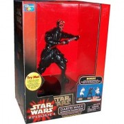 Star Wars Episode 1 The Phantom Menace 12 Inch Tall Action Figure Interactive Talking Bank - DARTH MAUL with Combat Actions and Original Voice
