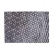 Alfombra gris claro polipropileno 160x230 LATTICE - Miliboo
