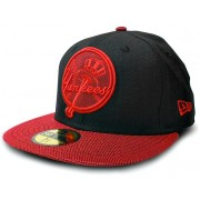 Boné New Era New York Black & Red - 7 3/8 - G