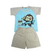 Monkey chlapecké pyžamko 5-6 let světle béžová
