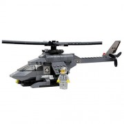 Happy Cherry Military Helicopter Building Block Plastic Blocks Toy 165 Pieces Gift For Boys
