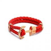 Piros színű horgonyos karkötő