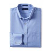 ランズエンド LANDS' END メンズ・ノーアイロン・ロイヤル・テクスチャー/無地/ボタンダウン/スリムフィット/シャツ(ライトブルー)