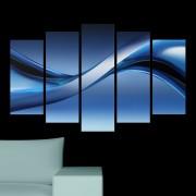 Декоративeн панел за стена с модернистичен арт дизайн в синьо Vivid Home