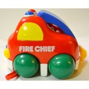 Baby Pull Along Funny Couple Vehicle - Fire Chief - Saving Bank