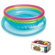 Intex Inflatable Jump O Lene Ring Bounce Kids Bouncer W/ 100 Play Balls